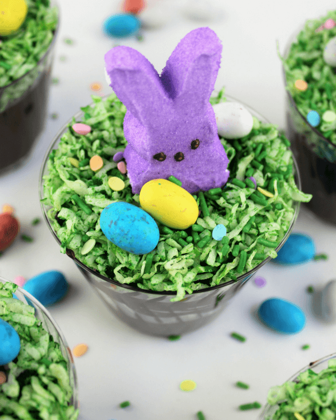 Easter Bunny Chocolate Dirt Cups