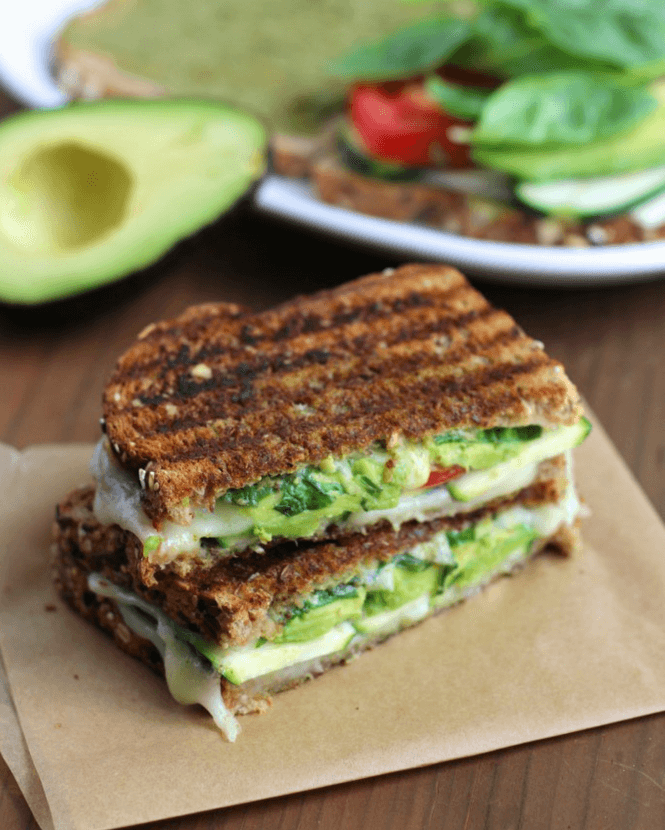 Zucchini and Avocado Grilled Cheese