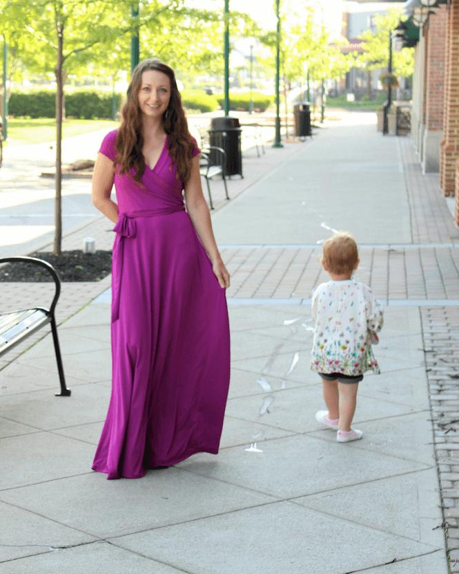 Magenta Maxi, PinkBlush, @pinkblush, #ad, mom style, summer style, Magenta Sash Tie Wrap Maxi Dress