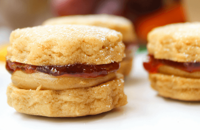 #ShopRitePBJLove , #ad, #cbias, PB&J, lunch ideas, lunchbox, cookies, Peanut Butter & Jelly Mini Cookie Sandwiches