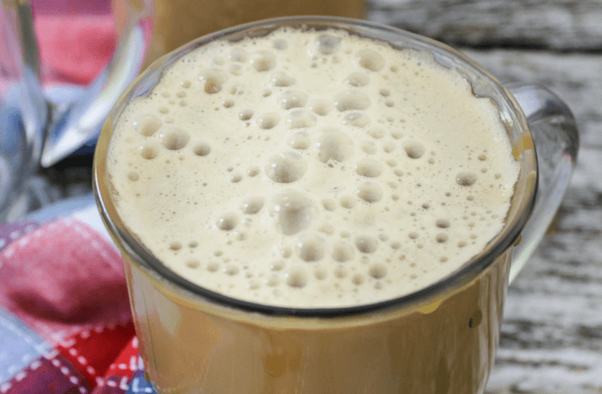 Mason Jar Caramel Latte, #latte #coffee, DIY latte, coffee at home