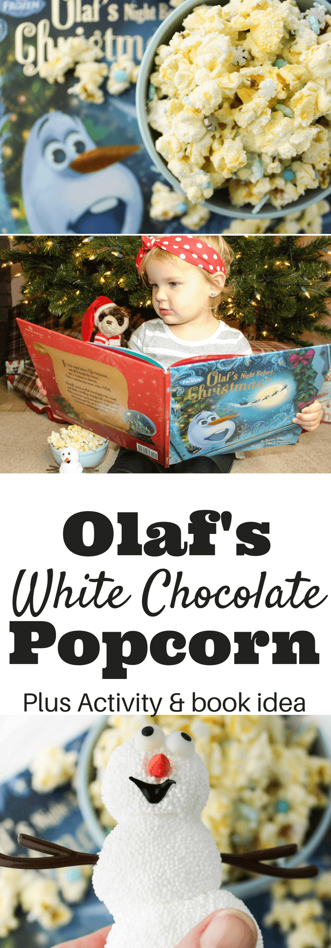 Olaf's Winter White Chocolate Popcorn