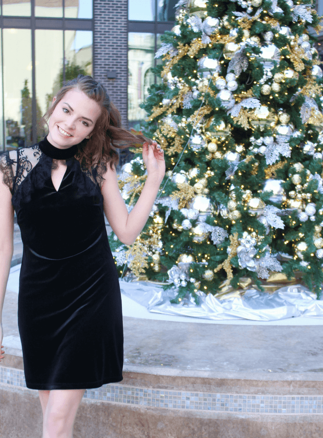 velvet holiday party dresses