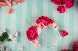 DIY Floral Easter Bunny Ears, Easter, DIY ears, Easter craft, floral headband