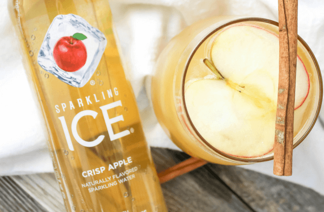 #ad,Caramel Apple Rum Cocktail, Caramel Apple Mocktail, fall beverage, fall cocktail, #GetFizzy, #SchoolsInSession #SparklingIceLife, #PopFizz, @SparklingICE, Sparkling Cocktails Fizzy Water, Skinny Cocktails, Sparkling Water, Soda Replacement, Fruit Flavored Water,