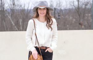 pintucked shirt, pintuck shirt, white blouse, pintuck blouse, kids style, grey panama hat, casual mom style