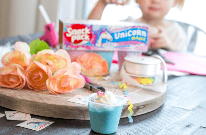 #ad DIY No Sew Unicorn Headbands | unicorn craft with kids | unicorn pudding | Unicorn Magic Snack Pack Pudding Cups | #UnicornSnackPack #YasssUnicorn #UnicornMagic
