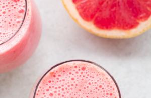 Grapefruit Raspberry Smoothie, breakfast smoothie, grapefruit recipe, smoothie recipe