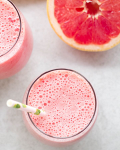 Grapefruit Raspberry Smoothie, breakfast smoothie, grapefruit recipe, smoothie recipe