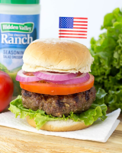 Ranch Burgers, @hvranch, #Ad, #HVRlove, Ranch recipe, recipe using ranch, juicy burgers on the grill, ranch seasoning