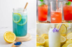 10 Lemonade Recipes Perfect for Summer, lemonade recipes, blue lemonade, mermaid lemonade, frozen lemonade, strawberry lemonade, rhubarb lemonade, brazilian lemonade, brazilian limeade, watermelon lemonade, cherry lemonade, summer drinks