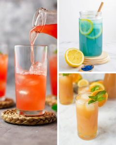 10 Lemonade Recipes Perfect for Summer, lemonade recipes, blue lemonade, mermaid lemonade, frozen lemonade, strawberry lemonade, rhubarb lemonade, brazilian lemonade, brazilian limeade, watermelon lemonade, cherry lemonade, summer drinks