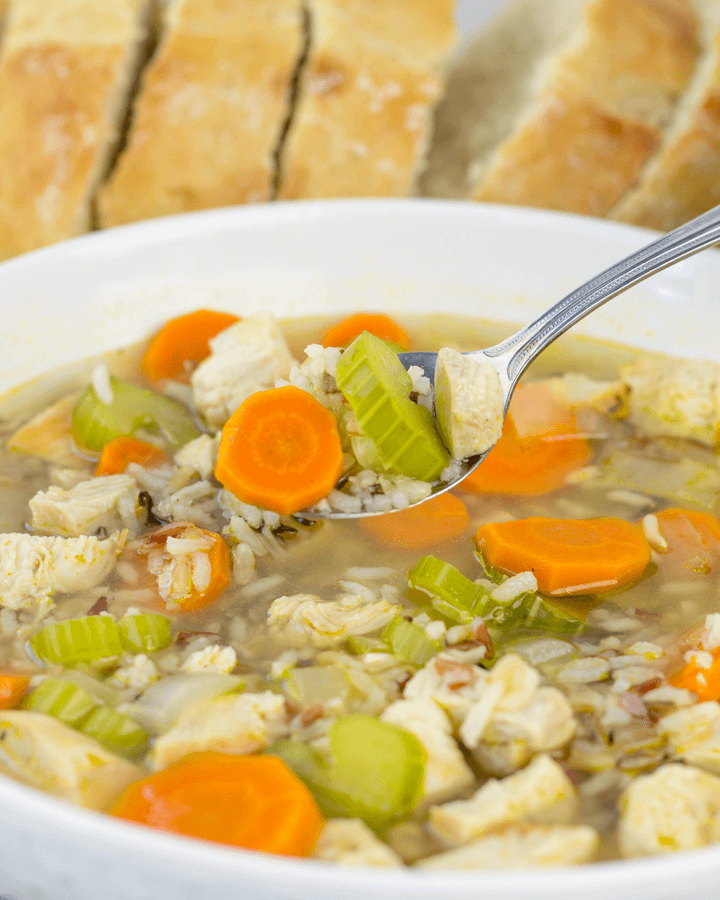 Stove Top Chicken and Rice Soup