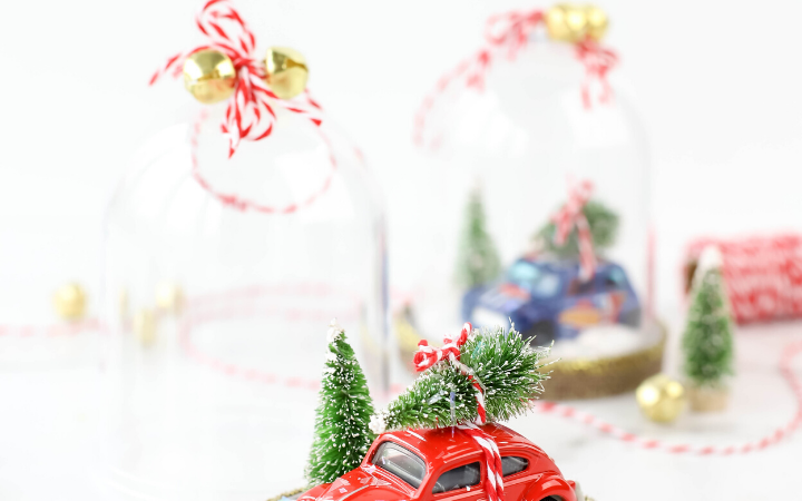 DIY Snow Globe Ornaments, DIY car ornaments, craft with hot wheels, DIY Christmas, DIY ornaments, DIY snow globe