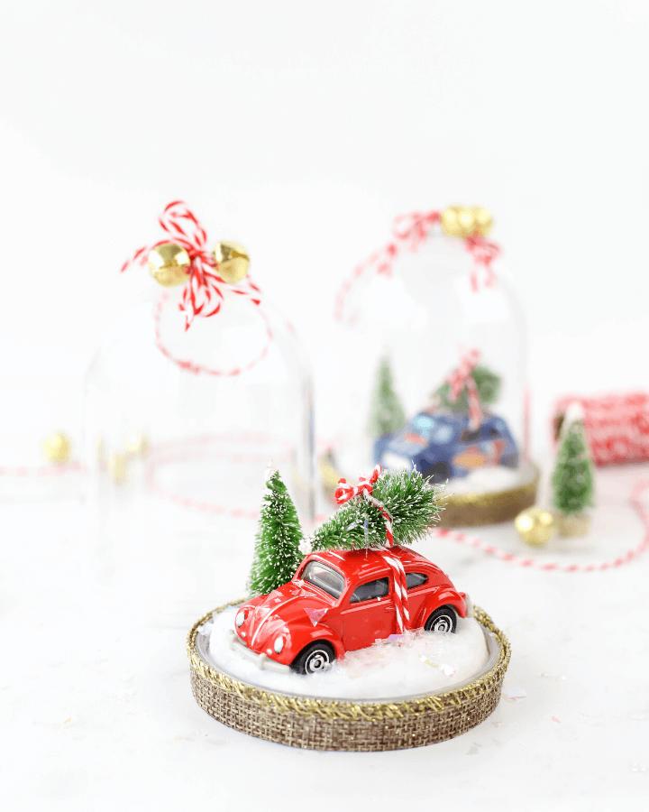 DIY Snow Globe Ornaments, DIY car ornaments, craft with hot wheels, DIY Christmas, DIY ornaments, DIY snow globe