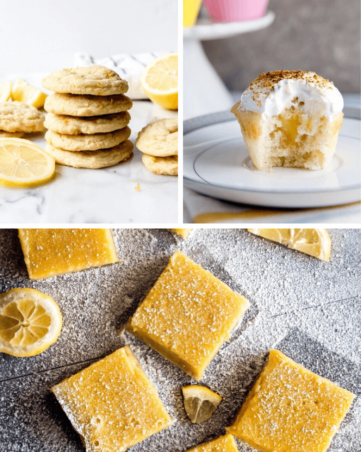 12 Irresistible Lemon Dessert Recipes, lemon dessert, lemon recipes, ways to use lemons, lemon pie, lemon cake, lemon bars, lemon cookies, lemon cookie dough, lemon bundt cake, lemon cupcakes, #lemon #dessert